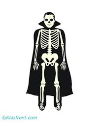 Small Picture Halloween Skeleton Coloring Pages for Kids to Color and Print