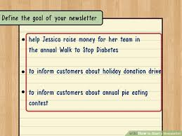 Sample Business Newsletter Beauteous How To Start A Newsletter With Sample Newsletters WikiHow