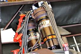 msd top fuel power grid system two msd pro mag 44 amp magnetos provide spark to 16 plugs on a top fuel engine