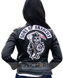 jacket sons of anarchy synthetic leather