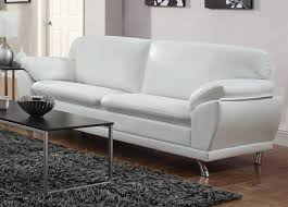 White Leather Chairs For Living Room White Sofa Leather Hotornotlive