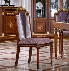 Designer Luxus Sitzer Esszimmer Barock Rokoko Esszimmer Holz