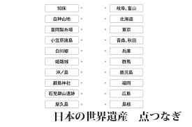 日本の世界遺産 点つなぎキッズの無料学習プリント素材 Origami Kids