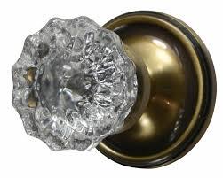 regency fluted glass door knob victorian plate antique brass