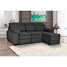sofa retratil 03 lugares. sof retrtil e reclinvel com chaise 3 lugares harmony cinza sofa retratil 03 t