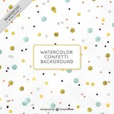 nice background with confetti in watercolor style free vector
