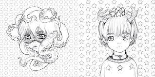 Pop Manga Coloring Book Camilla D Errico Free Printable Coloring