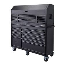 tool cabinet. 23-drawer tool chest and rolling cabinet set, textured black