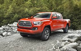 Download Wallpapers Toyota Tacoma Trd Double Cab Orange