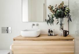 Crater solid wood bathroom vanity. 13 Wood Bathroom Countertop Ideas You Ll Want To Steal Hunker