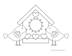We love our family and our husband or wife. Love Birds Coloring Page For Valentine S Day Weheartholidays