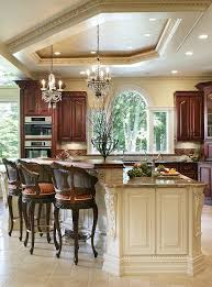 antique white kitchen kitchen traditional with crystal chandelier convection ovens