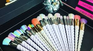 unicorn makeup brushes uses. unicorn horn makeup brushes from dj victory\u0027s line macy uses l
