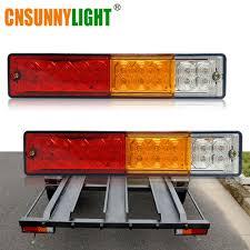 Truck Tailgate Lights Cnsunnylight Waterproof 20leds Atv Trailer Truck Led Tail Light Lamp Yacht Car Taillight Reversing Running Brake Turn Lights 12v
