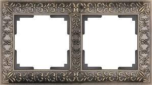 <b>Рамка Antik</b> на 2 поста бронза WL07-Frame-02 <b>4690389054365</b>