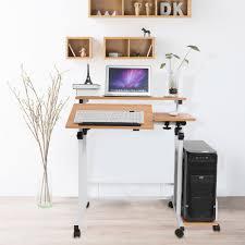 desk bedroom home ofice. Computer Desk Stand Stable Height Adjustable Mobile Home Office Laptop Standing Bedroom Lap Desk-in Desks From Furniture On Ofice