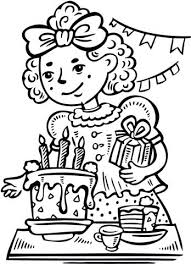 Coloring Birthday Party Astonishing Design Birthday Coloring Pages