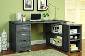 coaster shape home office computer desk. Coaster Home Furnishings L Shaped Office Desk - Weathered Grey Shape Computer