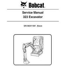 Bobcat 323 Excavator Service Manual 6903380