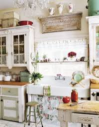 vintage french country kitchen. Brilliant Country This Gorgeous Farmhouse Style Sink And Glass Cabinets Are Lovely Touches In  This Country Kitchen Throughout Vintage French Country Kitchen A