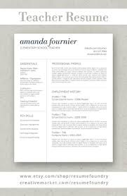 Success Resumes Teacher Resume Template For Word 1 3 Page Resume Cover