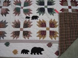 70 best Quilts-Bear Paw images on Pinterest | Quilting ideas, Bear ... & Quilt White w/ Patchwork Bears & 2 Shams - Bear Claw Pattern Adamdwight.com