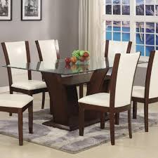 dining room great concept glass dining table. Exellent Great Rectangle Glass Dining Table Incredible Rectangular With Top Camelia White  By Crown Regarding 13  Inside Room Great Concept O