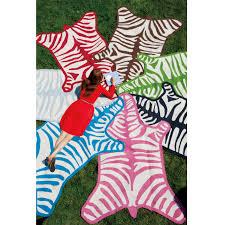 animal striped zebra rug for interesting interior floor decor ideas cute colorful zebra rug for