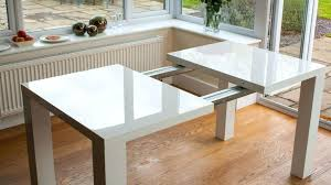 dining tables square white table room cool modern intended for extendable ideas 2