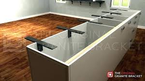 granite support legs home depot countertop stainless steel counter brackets love design standard