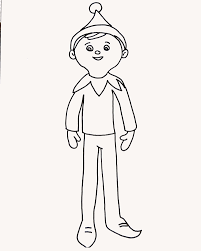 coloring pages elf on the shelf elf shelf coloring page free printable pages new