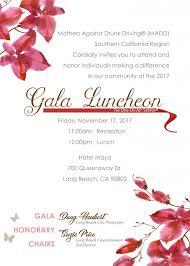 Formal Invite Madd Gala Luncheon 2017 Formal Invite Madd Southern California