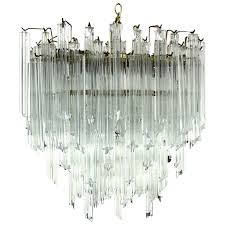camer mid century modern murano chandelier glass prisms light fixture for