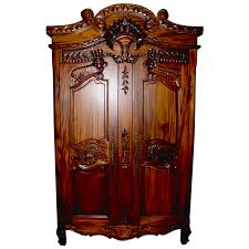 mahogany bedroom furniture. rococo mid-mahogany french armoire mahogany bedroom furniture