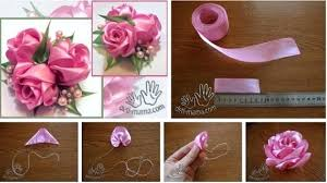 How To Make A Paper Ribbon Flower Satin Ribbon Roses Logintinfo Club