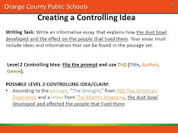 orange county public schools winner middle school mini academy  orange county public schools writing task write an informative essay that explains how the dust