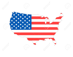 American Flag Website Background Blank Similar Usa Map Isolated On White Background United States