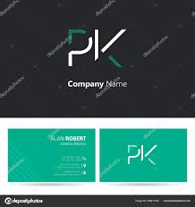 Logo Design Letters Stroke Style Font Business Card Template Stock