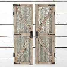 wall absolutely smart barn door wall decor corrugated metal and wood panel set of 2 antique