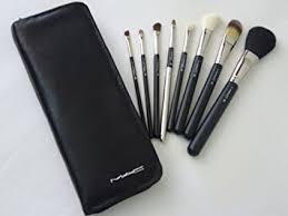 mac makeup brush set 8 pieces case