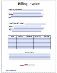 Invoice Template Excel Microsoft Billing Invoice Template Sample Invoiceate Word For