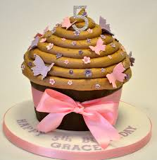 Chocolate Pink And Purple Giant Cupcake Girls Birthday Cakes