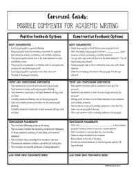 cards for academic essay writing helping students give quality  comment cards for academic essay writing helping students give quality comments