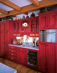 gorgeous rustic red painted kitchen cabinets painted kitchen cabinets rustic quicua