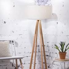 Everest Floor Lamp Linen Light Goodmojo