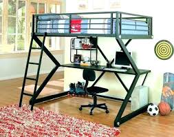 twin metal loft bed with desk twin metal loft bed with sk unrneath study black over