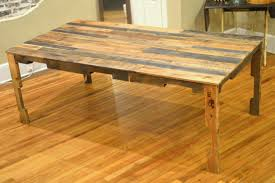 the shipping pallet dining table | little paths so startled pallet board  coffee table diy