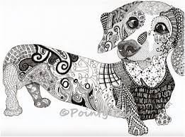 Billedresultat For Zentangle Dogs