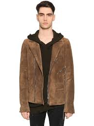rta suede biker jacket brown men clothing leather jackets