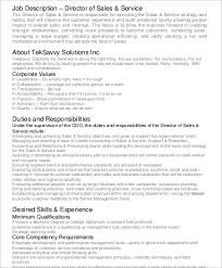 sales service director job description service director job description